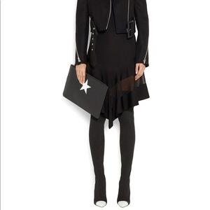 Givenchy Leather Trim Stretch-knit over knee boot